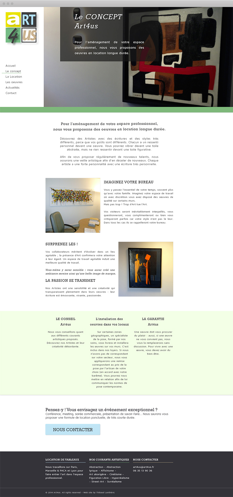 Page concept - Art4us