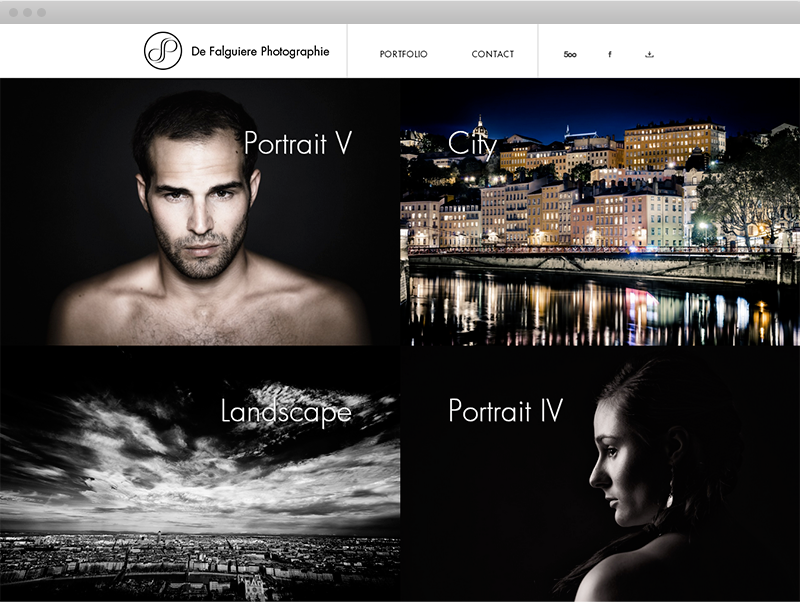Page Portfolio - Desktop