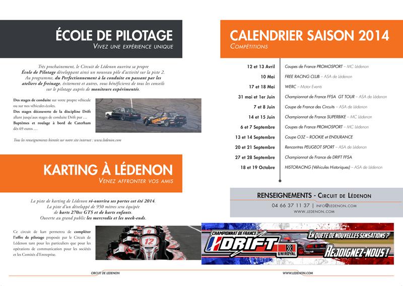 Calendrier - Programme Circuit de Lédenon