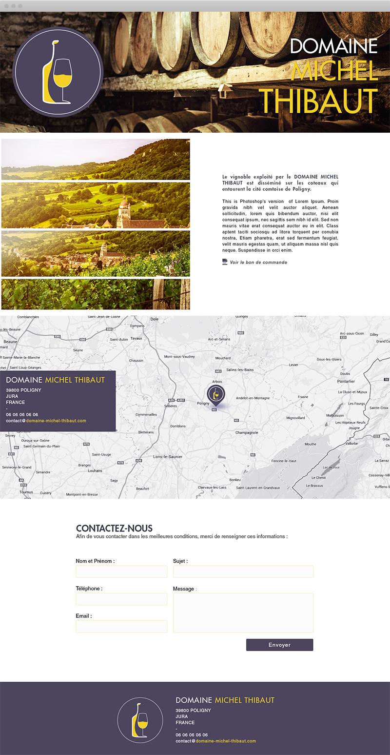 Site Desktop - Domaine Michel Thibaut