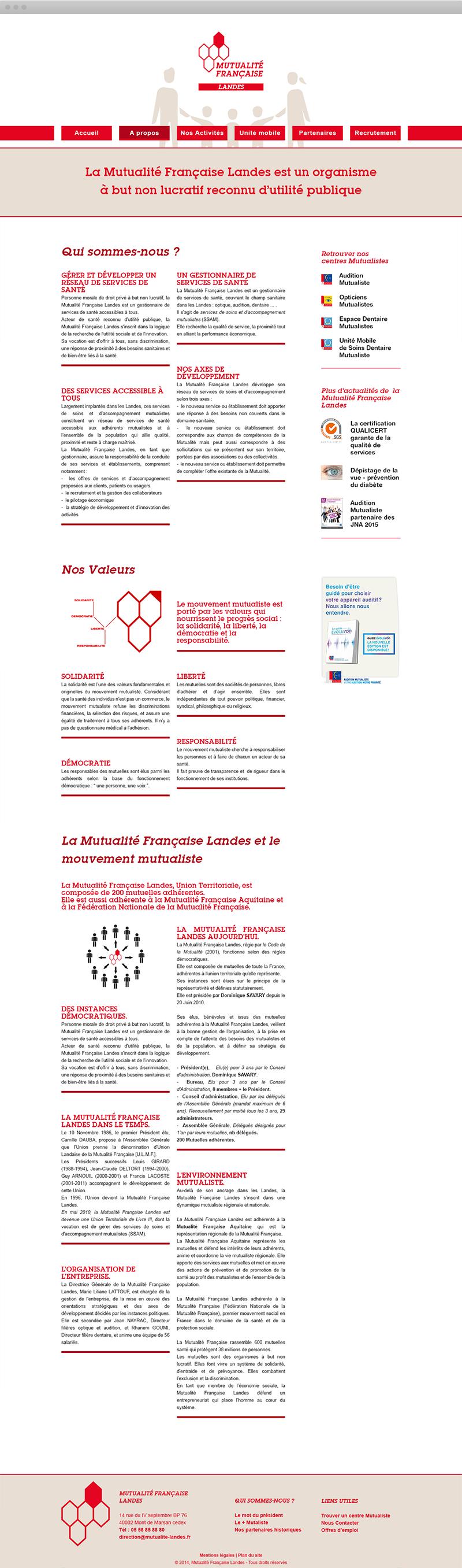 Mutualité Française Landes - A propos