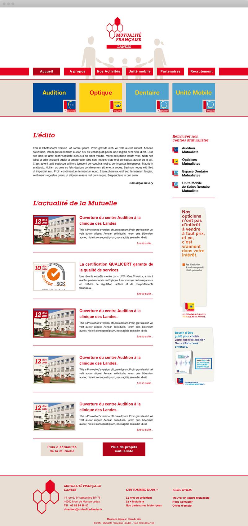 Mutualité Française Landes - Accueil