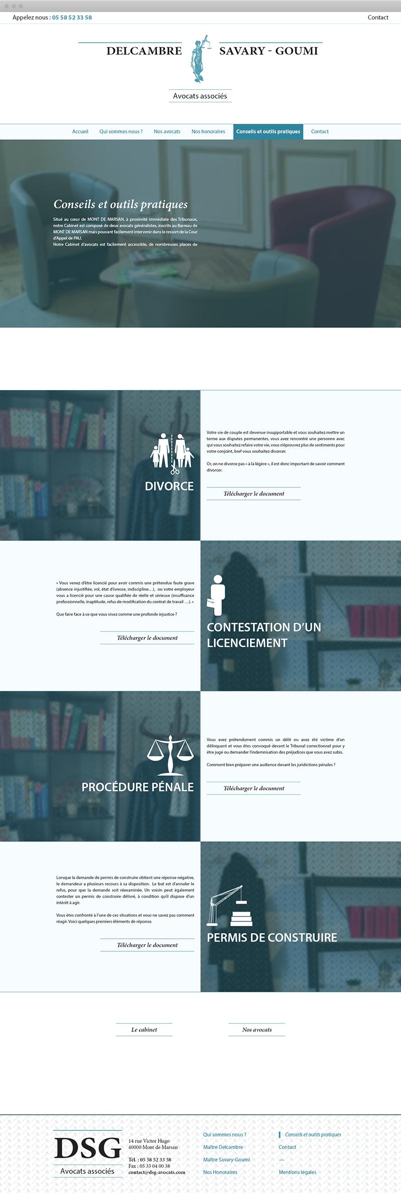 Page Outils Juridiques - DSG Avocats