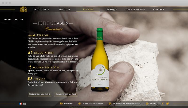 Fiche Vin - Domaine Jean-Marc Brocard