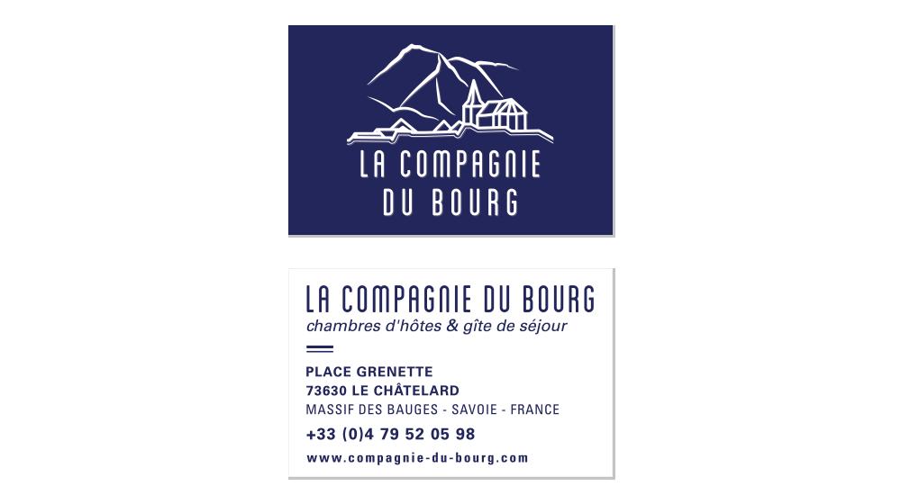Cartes de visite de La Compagnie du Bourg