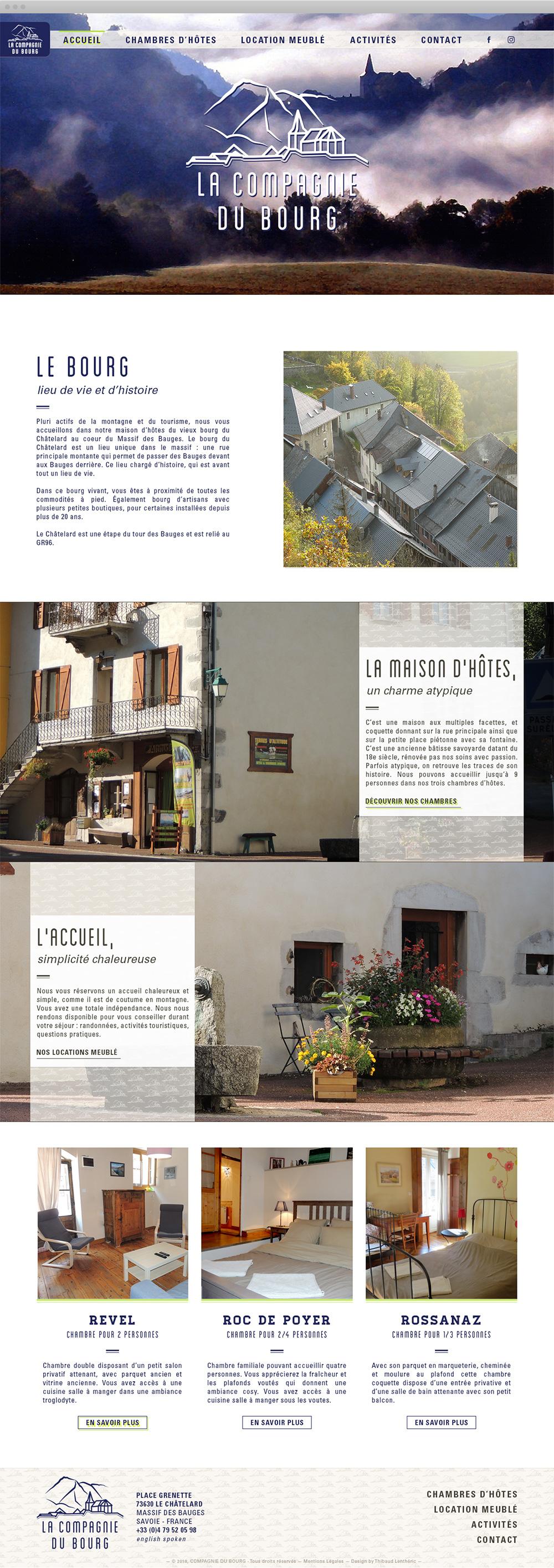 Accueil du site de La Compagnie du Bourg
